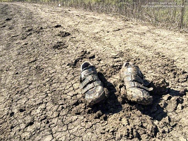 Abandoned shoes at Ahmanson Ranch