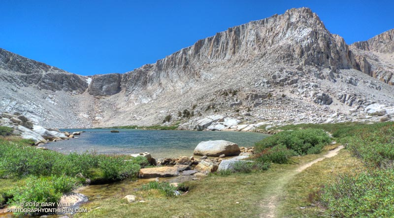 View toward Army Pass from the outlet of Cottonwood Lake #4. July 28, 2012.
