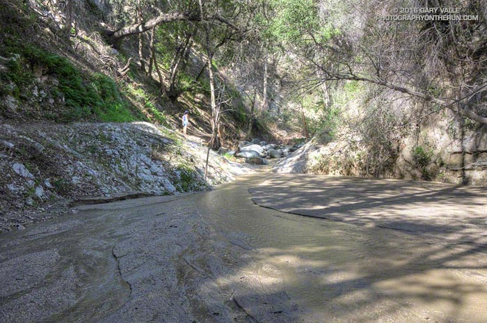 Sedimentation on Arroyo Seco upstream of Bear Creek