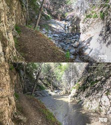 Arroyo Seco Sediment 2012 vs 2016.