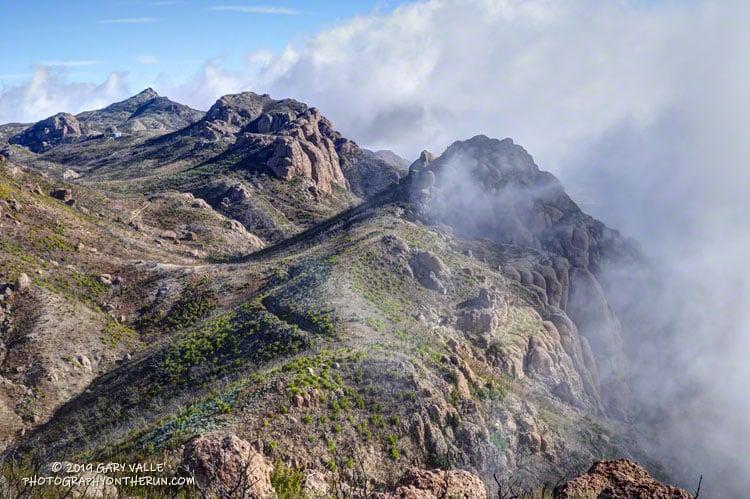 The Backbone Trail west of Exchange Peak, in the Boney Mountain Wilderness