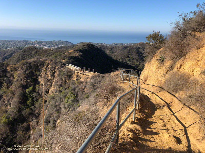 Backbone Trail above Will Rogers State Historic Park