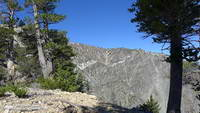 Complex geology at head of Mine Gulch on Mt. Baden-Powell.