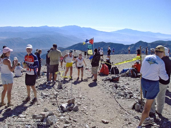 Finish line of the Mt. Baldy Run to the Top.