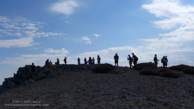Hikers on the summit of Mt. Baldy