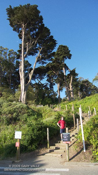 Brett at the start of the East Battery Trail on our Presidio loop trail run.