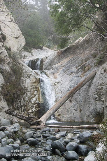 Tiered Falls Downstream of Switzer Falls, in the San Gabriel Mountains