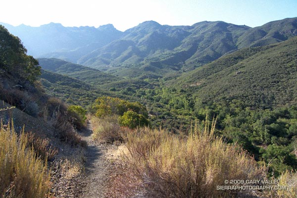 Descending to the Old Boney and Blue Canyon trail junction.