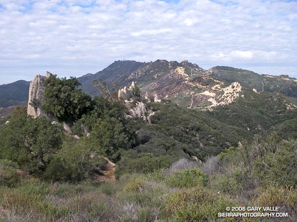 Rock formations along the Backbone Trail in Malibu Creek State Park.