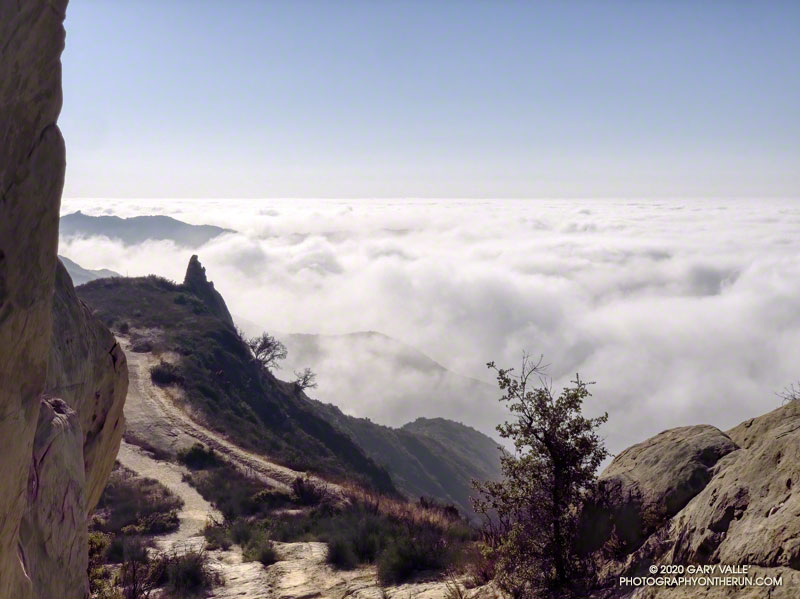 Marine layer clouds from the Backbone Trail at