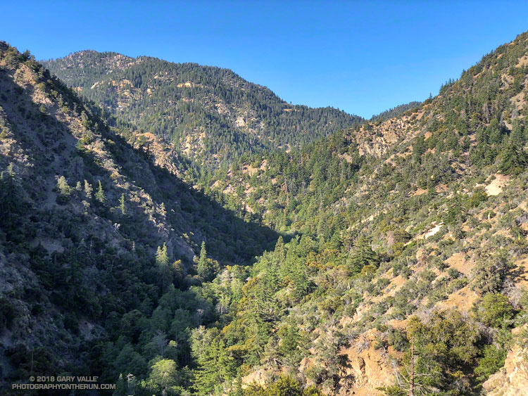 Mt. Islip and South Fork Canyon in the San Gabriel Mountains