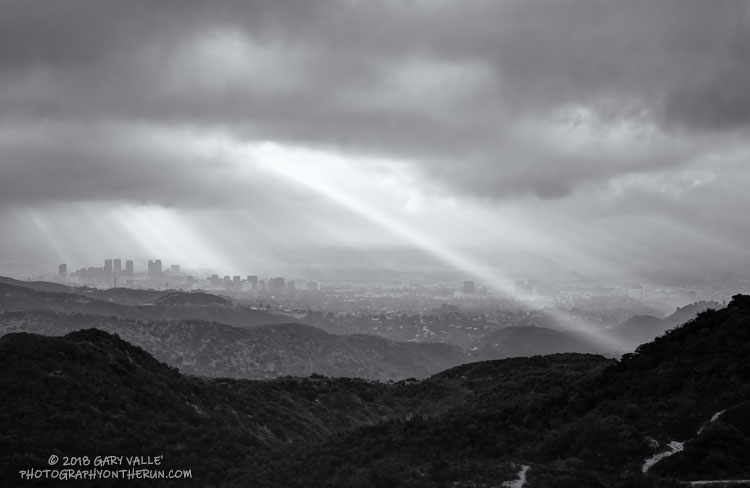 Century City Clouds and Sun. Photography by Gary Valle'.