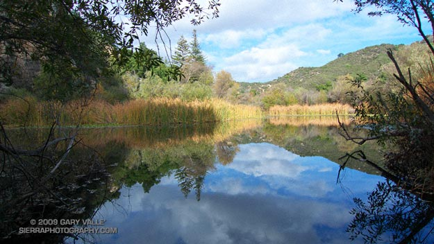 Century Lake in Malibu Creek State Park.
