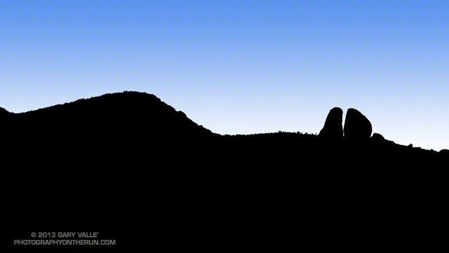 Chamberlain Rock on the Chamberlain Trail segment of the Backbone Trail