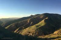Greening hills along the Chumash Trail