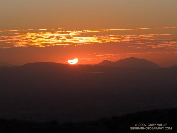 Sunset from the Chumash Trail, Simi Valley, California.