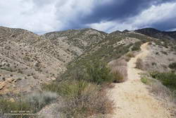 Chumash Trail about a mile from the trailhead