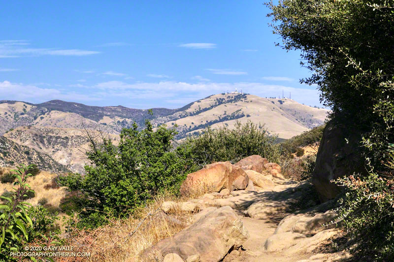 When you round a corner and see Oat Mountain, you're just about to the top of the Chumash Trail.