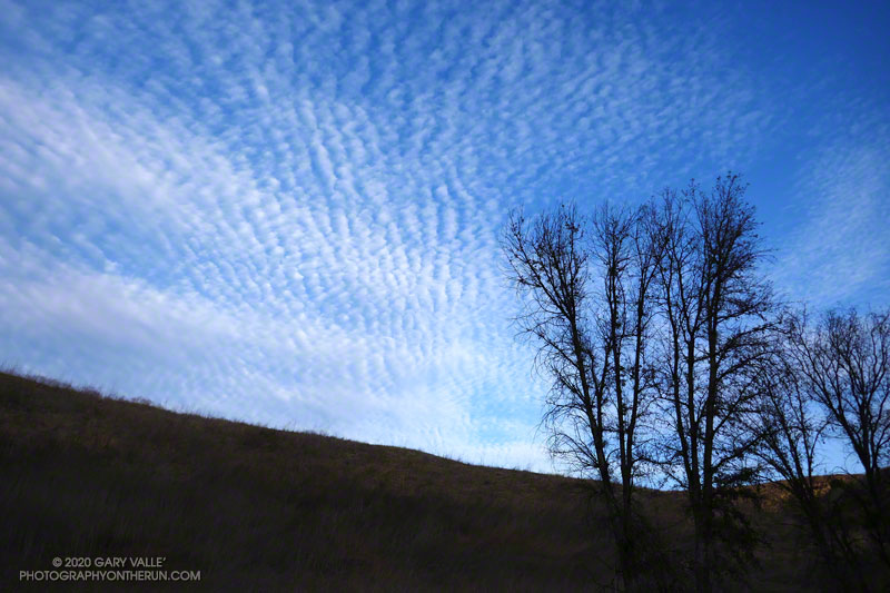 Cirrocumulus clouds from Upper Las Virgenes Canyon Open Space Preserve, also known as Ahmanson Ranch