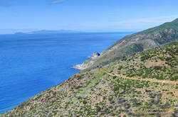 View of the Pacific, Anacapa Island and Santa Cruz Island from the Ray Miller Trail