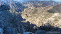 Colby Canyon and Arroyo Seco from high on Strawberry Peak.