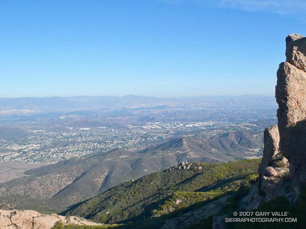 The Conejo Valley from Boney Mountain.