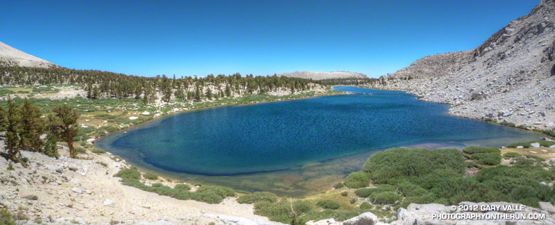 Spectacular trail running near Cottonwood Lake #3. July 28, 2012.