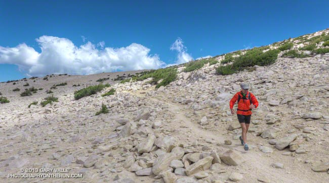 Craig running on the Sky High Trail on San Gorgonio Mountain