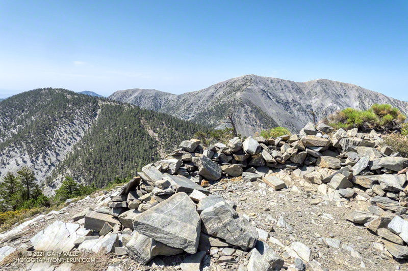 Dawson Peak and Mt. Baldy from Pine Mountain