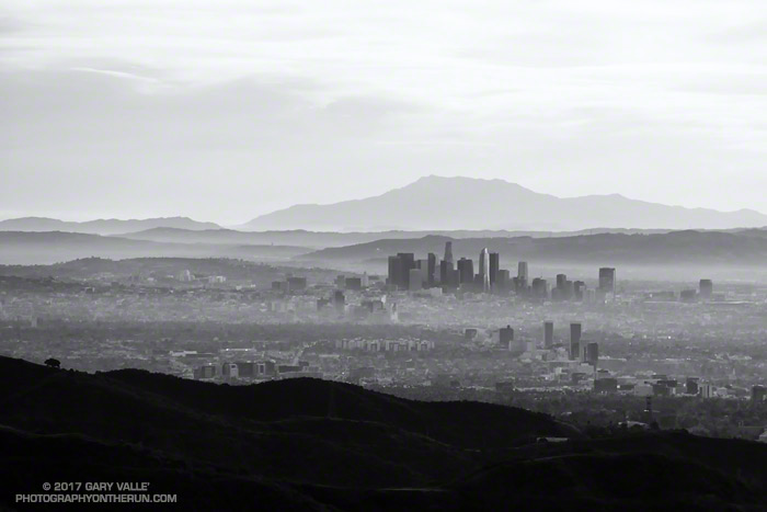 Downtown Los Angeles and San Jacinto Peak