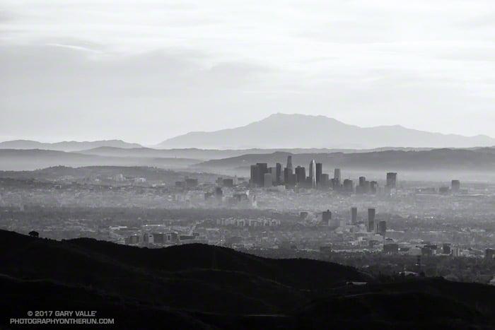 Downtown Los Angeles and San Jacinto Peak