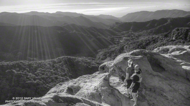 View to the ocean from Eagle Rock in the Santa Monica Mountains