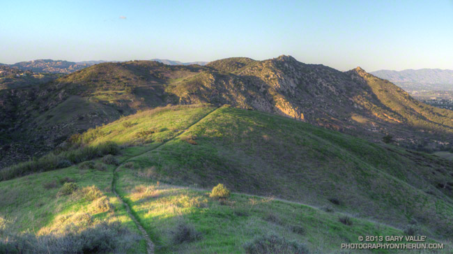 The hills of El Escorpion Park in the west San Fernando Valley