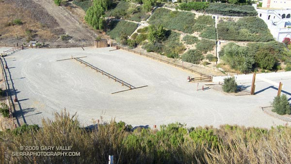 Empty parking lot at the Victory trailhead of Upper Las Virgenes Canyon Open Space Preserve (formerly Ahmanson Ranch)