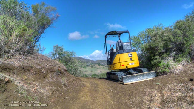 Excavator on the Tapia Spur Trail