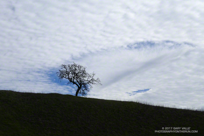 Fallstreak hole south of Calabasas on January 21, 2017.