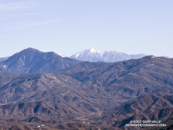 Digitally zoomed view of Mt. Baldy from Fox Mountain.