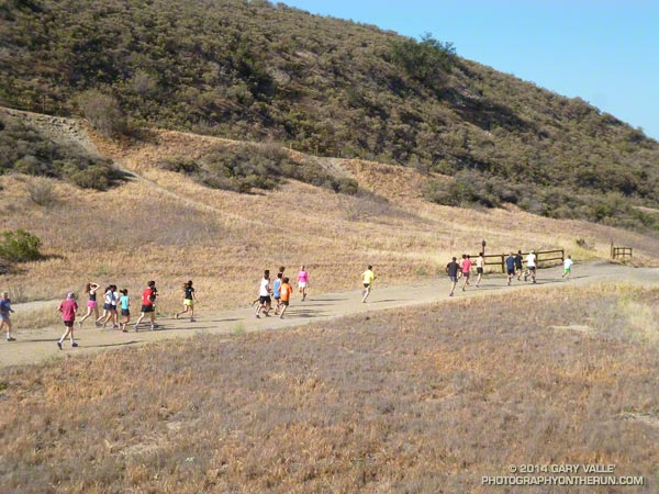 Fun runners, hikers and bikers did an assortment courses at Ahmanson Ranch, ranging from 2 miles up to 7+ miles.