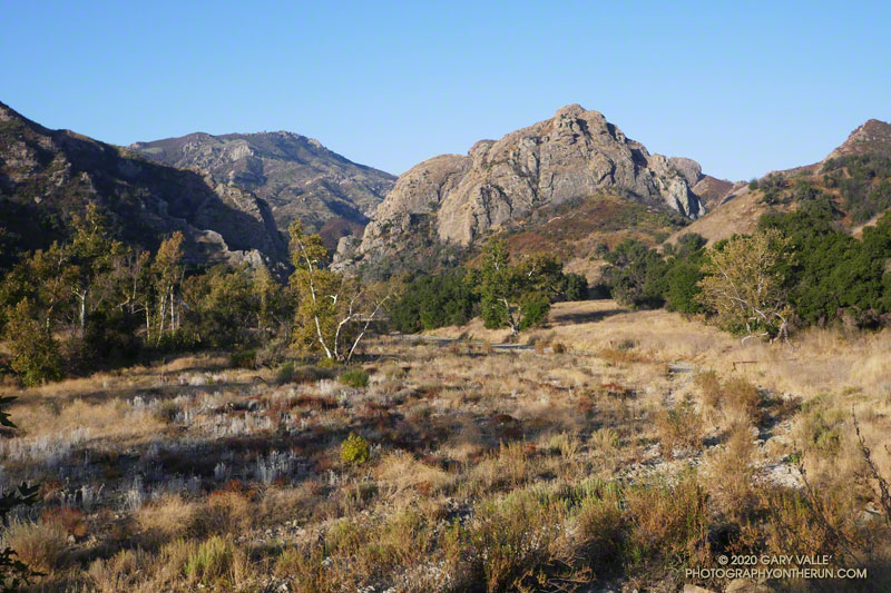 Morning view of Goat Buttes from the High Road in Malibu Creek State Park.