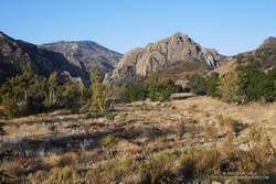 Morning view of Goat Buttes in Malibu Creek State Park