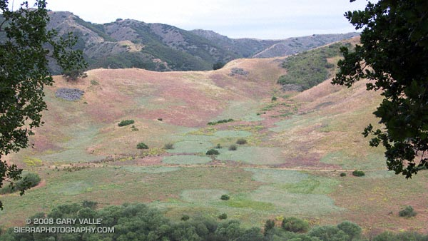 View of Grasslands and Talepop trails from the Las Virgenes View Trail.