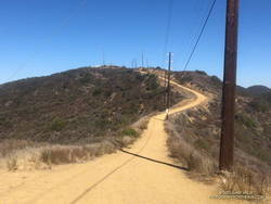 The steep climb on Temescal Ridge Fire Road up to Green Peak