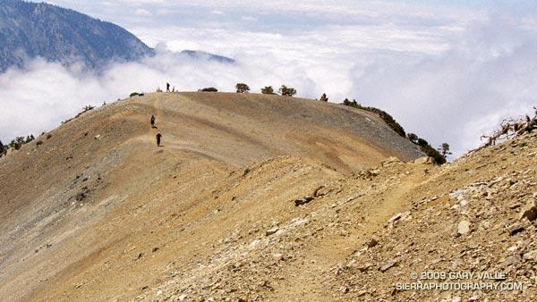 Hikers on Mt. Baldy's South Ridge.