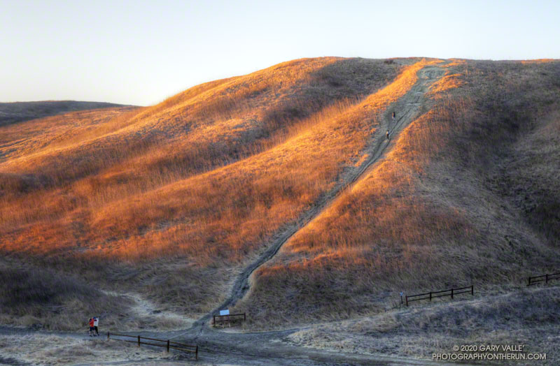 The Hill Climb Trail at Upper Las Virgenes Canyon Open Space Preserve, aka Ahmanson Ranch. The trail gains about 120' of elevation. It's located a short distance west of Victory Trailhead parking lot.