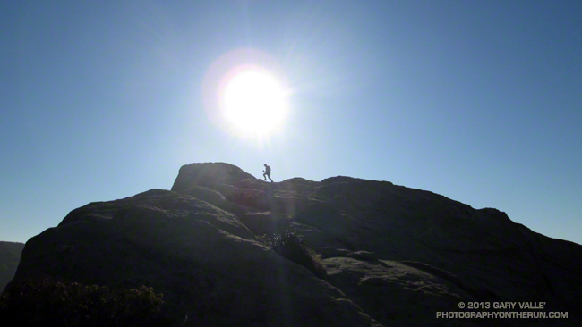 Joey Morrison on top of Eagle Rock during the 2013 Backbone Ultra