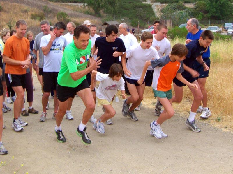 The start of the 5.2 mile Beast loop fun run.