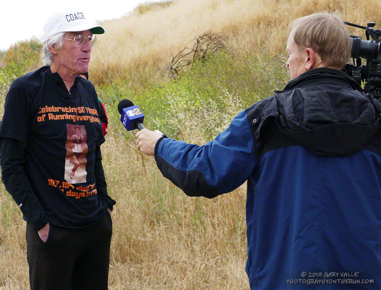 CBS 2 Los Angeles interviews Jon regarding his 50-year running streak.
