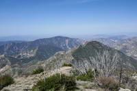 Josephine Peak (5558') and Mt. Lukens (5074') from the summit of Strawberry Peak.
