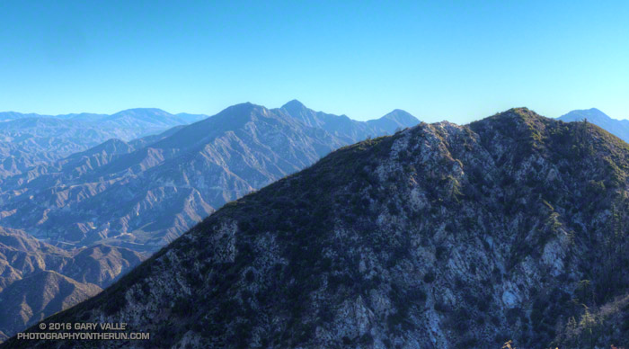 View of the San Gabriels from the Stone Canyon Trail