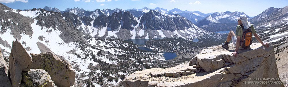 View west from Kearsarge Pass